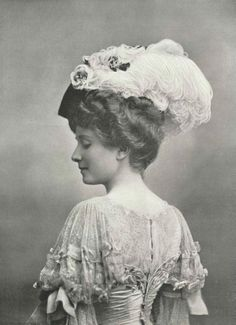 Victorian lady and feather hat...