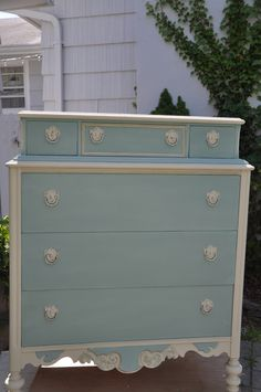 I painted this in Annie Sloan's Duck Egg Blue.