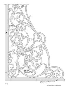 Scroll Saw Patterns, Scroll Design, Porch Brackets, Alphabet Design, Border Pattern, Stage Decorations, Bone Carving, Cornice, Wood Sculpture