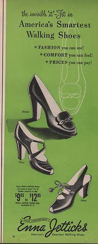 America's smartest walking shoes -Enna Jetticks (1951).