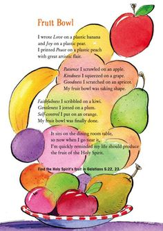 Fruit of the Spirit Tree | Our Journey Westward | Christian: Bible ...