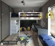 Dom Tychy - Średni pokój dziecka dla chłopca dla ucznia dla malucha dla nastolatka, styl nowoczesny - zdjęcie od katadesign