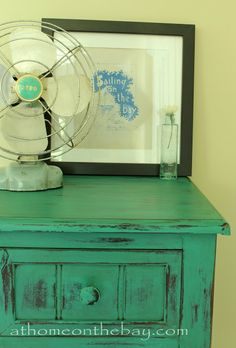 Table Painted with Annie Sloan Chalk Paint - Florence - At Home on the Bay
