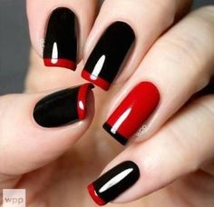 Black and red nails design | Hairstyles Nails and BeautyHairstyles Nails and Beauty by adrian.godslayer