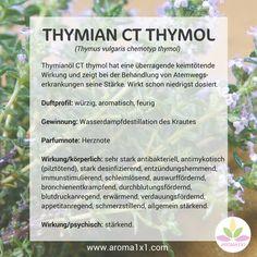 Thymianöl CT thymol hat eine überragende keimtötende Wirkung und zeigt bei der Behandlung von Atemwegs-erkrankungen seine Stärke. Wirkt schon niedrigst dosiert.