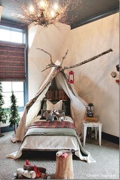 Holiday Parade of Homes Nashville Area - Southern Hospitality G&R teepee room Boys Bedroom Decor Boys Bedroom Decor, Baby Bedroom, Bedroom Themes, Bedroom Ideas, Boy Decor, Toddler Teepee, Toddler Rooms, Kids Rooms, Boy Rooms