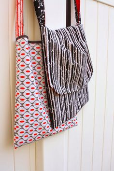 Easy DIY Mod Messenger Bag tutorial - sew your own stylish messenger bag. Beginner friendly.