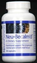 Neu-Becalm'd is an amino acid supplement that restores the brain by providing basic building blocks it needs for focus and calm. NeuBecalm'd can improve ADD, ADHD symptoms and increase focus, control, and conduct. Also, the product may help those suffering from anxiety, depression and other related conditions, as well as alcohol and drug recovery maintenance. http://www.brainopinions.com/neu-becalmd-2/