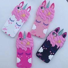 £0.99 GBP - Cute 3D Shy Unicorn Cartoon Silicone Soft Phones Case For Iphone 5 5C Se 6 7 8 X #ebay #Electronics