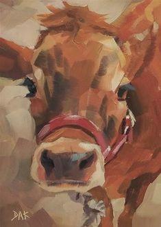 "Daily Paintworks - ""How Now"" - Original Fine Art for Sale - © Deborah Ann Kirkeeide"