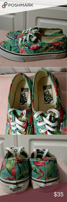 Vans Van Doren shoes Worn once but in excellent clean condition. Prints and patterns are so fun summer time design. Men's  5.5 , women's 7. Vans Shoes Sneakers