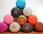 CUSTOMIZE YOUR POUF set of 2 Moroccan Leather Pouf Ottoman