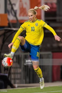 Sofia Jakobsson of Sweden during the 2016 UEFA Women's Olympic Qualifying…