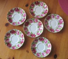 Royal Albert Old English Rose Saucers -US $25.00 in Pottery & Glass, Pottery & China, China & Dinnerware showandtellchick-bstar on ebay  11.24