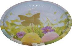 RZOnlinehandel - Metallteller Ostermotiv ca 26,5 cm rund Ostereier Teller, Decorative Plates, Tableware, Home Decor, Basket, Round Round, Decorating, Metal, Dinnerware
