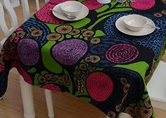 """Amazon.com: FADFAY Bohemian Tablecloth Fancy Rectangle Table cloth Dinning Table Decoration 35.5""""x55"""": Kitchen & Dining"""