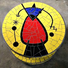 "Carretel em mosaico ""Miró"" Style"