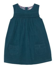 Look at this JoJo Maman Bébé Teal Corduroy Pinafore Dress - Infant, Toddler & Girls on today! Frocks For Girls, Little Girl Dresses, Girls Dresses, Baby Dresses, Cord Pinafore Dress, Corduroy Pinafore Dress, Baby Kids Wear, Red Tunic, Tunic Leggings