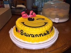 Emoji cake I made for my little cousin.