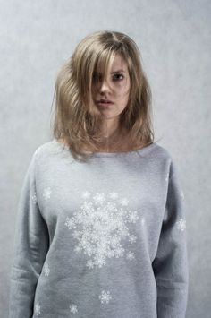 Single piece of beautiful snowflake blouse. Unique like real snowflakes!