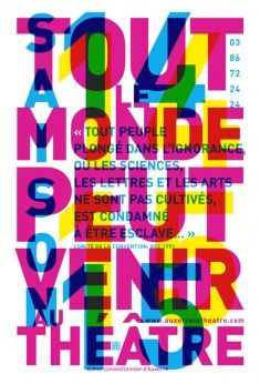 Such an interesting all type design The overlapping is very intriguing and the placement of the text is incredible The alignment down the spine of the E with the body of. Type Posters, Graphic Design Posters, Poster Prints, Graphic Prints, Illustration Design Graphique, Art Graphique, Graphisches Design, Print Design, Vincent Perrottet