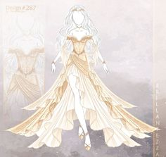 Clothing Sketches, Dress Sketches, Drawings Of Dresses, Dress Design Drawing, Dress Drawing, Anime Outfits, Mode Outfits, Drawing Anime Clothes, Fantasy Gowns
