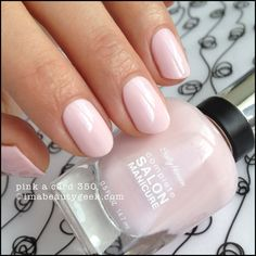 Sally Hansen Pink a Card - Complete Salon Manicure. Lotsa #CSM swatches at imabeautygeek.com