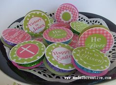 Free Easter Printable Cupcake Toppers