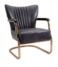 Caplin Top Grain Leather Chair