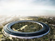 The world's mightiest tech companies are building monuments to their success. What do their new HQs say about them? Apple Headquarters, Arch Model, Norman Foster, Apple New, Versailles, Art And Architecture, Great Photos, Skyscraper, Exterior