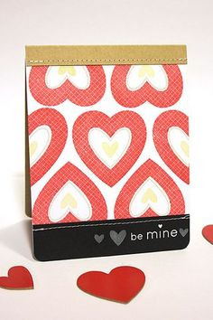 Be Mine Card by Heather Nichols for Papertrey Ink (December 2012)