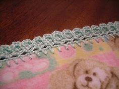 Edged Fleece Blanket - crochet tutorial