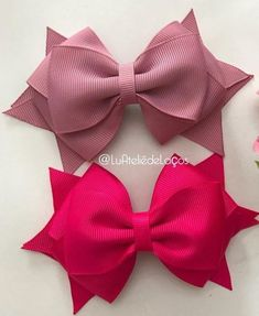 Discover thousands of images about Cute bows Bow Hair Clips, Flower Hair Clips, Pink Hair Bows, Blue Hair, Hair Bow Tutorial, Flower Tutorial, Toddler Hair Clips, Boutique Hair Bows, Making Hair Bows