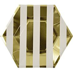 Meri Meri Toot Sweet Gold Hexagon Large Plate
