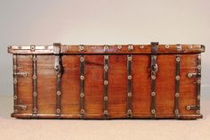 Rajasthan teak and brass bound trunk 19th c. Great alternative to a coffee table...
