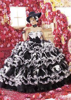 black white wedding dresses from Peachy Girl