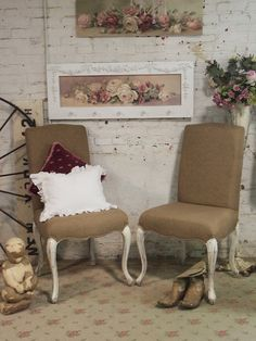 Painted Cottage Chic Shabby Farmhouse Parson by paintedcottages, $395.00