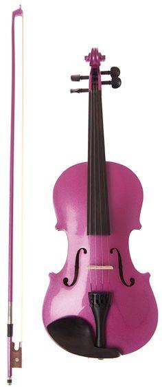 Metallic Purple Violin Outfit, Purple Case, Purple Bow by Archetto - Karacha