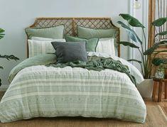 Bergman Quilt Cover Sage Green   Bed Bath N' Table Green Bedroom Decor, Sage Green Bedroom, Green Rooms, Dorm Themes, Bedroom Themes, Bedroom Inspo, Bedroom Ideas, Bedroom Stuff, Bedroom Inspiration