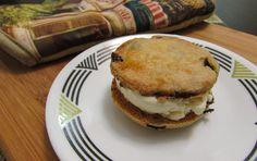 Gluten Free Ice Cream Sandwiches with Orange Cranberry Shortbread Cookies from Gluten Free Crumbley