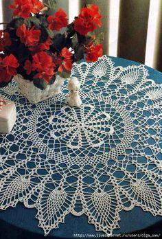 Crochet Knitting Handicraft: napkins new 6 Art Au Crochet, Crochet Doily Patterns, Crochet Home, Thread Crochet, Filet Crochet, Crochet Motif, Crochet Doilies, Crochet Jumper, Knit Crochet