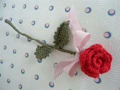 free pattern for crochet rose