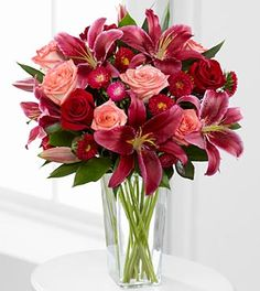 Kiss Me Quick Valentine's Day Bouquet - 15 Stems - VASE INCLUDED