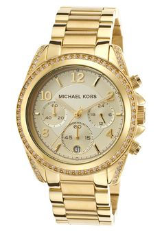 Deal From TheWatchery.com Womens Chronograph White Crystal Gold Tone Stainless Steel Michael Kors Watch on sale for $155.00 only.With Free Shipping ( $10 off $90 or More at TheWatchery.com with Coupon Code TIME10 at Checkout. ) http://www.dealwaves.com/product/Michael-Kors-Blair-Chronograph-Watch-39mm-Gold-One-Size-MK5166.html