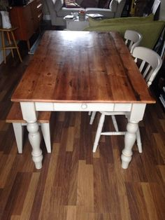 Vintage Style Farmhouse Table On Gumtree A Including Chairs And Bench