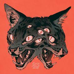 "𝕮𝖆𝖓𝖎𝖘𝕬𝖑𝖇𝖚𝖘 on Twitter: ""Kilkenny… "" Art And Illustration, Art Sketches, Art Drawings, Dessin Old School, Arte Obscura, Arte Sketchbook, Wow Art, Creepy Art, Horror Art"