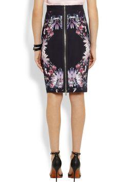 Givenchy Floral-print stretch-cady pencil skirt NET-A-PORTER.COM