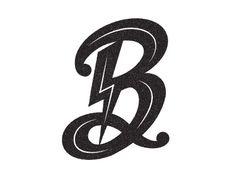 Bowie by Bryan Satalino Lightening Tattoo, David Bowie Tattoo, Lightning Logo, Logo Design, Graphic Design, Ad Design, Graffiti Lettering Fonts, Diamond Tattoos, Just Ink