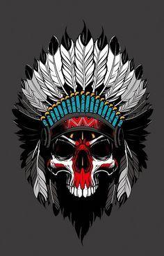 Skull skull wallpaper for andriod Native American Tattoos, Native Tattoos, Warrior Tattoos, Native American Art, Trippy Wallpaper, Skull Wallpaper, Indian Skull Tattoos, Skull Pictures, Skull Artwork