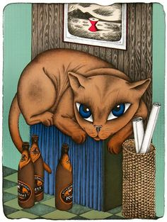 František PON Cat Art, Scooby Doo, Gallery, Cats, Pictures, Fictional Characters, Illustrations, Photos, Gatos